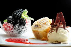 haute cuisine haute cuisine strudel with and berries dessert on