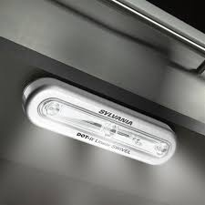 sylvania wireless led cabinet swivel touch light with stick