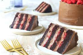 Chocolate Mousse Cake With Raspberries Recipe