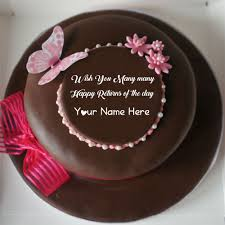 Butterfly Chocolate Birthday Cake Wishes Name Profile 751