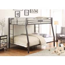 acme furniture limbra full over queen metal bunk bed black sand