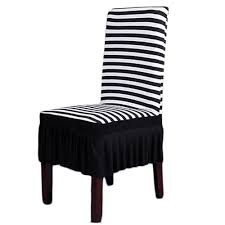 Amazon.com: Dining Room Chair Covers, SHZONS™ Stretch Stripe Ruffled ... Fniture Chairs Gloss Cushions Sets Striped Black Decor Kitchen And White Slipcovered Ding Glamorous Chair Table Ikea Buy Why I Love My House Full Of Summer Slipcovers Room Slipcover Macys Ado Upholstered Grey Long For Amazoncom Cosyvie Super Fit Universal Stretch Covers Shzons Stripe Ruffled Linen Parsons Chair Slipcover With Pleat And Rtoise Button Elegant For Stylish Look Homesfeed Subrtex Knit