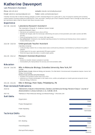 Research Assistant Resume: Sample & Writing Guide (20+ Examples) Resume For Research Assistant Sample Rumes Interns For Entry Level Clinical Associate Undergraduate Assistant Example Executive Administrative Labatory Technician Free Lab Examples By Real People Market Objective New Teacher Aide No Experience Elegant Luxury Psychology Atclgrain Biology Ixiplay