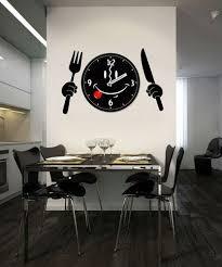 montre de cuisine antique couteau et une fourchette vinyle dcoration cuisine gros à