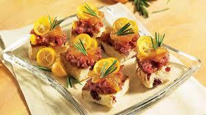 recette canape canapés à la terrine d autruche recettes iga apéro