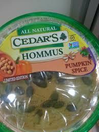 Pumpkin Latte Lite Dunkin Donuts by Cedar U0027s Pumpkin Spice Hommus Pumpkin Spice Trend In Packaging