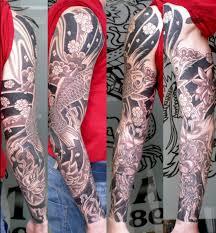 Feminine Quarter Sleeve Tattoo Designs