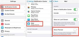 How To Turn f Message Preview Lock Screen Iphone 6 – Howsto Co
