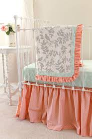 Coral And Mint Crib Bedding by Bedding Set Shabby Chic Crib Bedding Frightening Simply Shabby