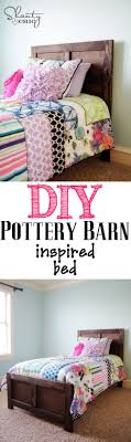 DIY Bed - Pottery Barn Inspired | Pottery Barn Inspired, Beds And ... Before We Even Thought Of Having Another Baby Pottery Barn Kids All White Bedding Chic Loft Bed Get A For Less Bedroom Design Awesome Bedrooms Bench Twteen 2 Twin Beds Corner Unit Kids Twin With Trundle Ebth Goodkitchenideasmecom Fabulous Beds Narrow Sheets Small Campers Tween Teen Duvet Covers Black And Ikea Cover Size