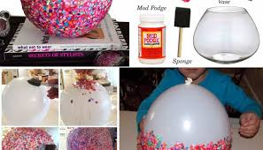 DIY Craft Project Confetti Bowls