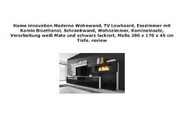 home innovation moderne wohnwand tv lowboard esszimmer mit