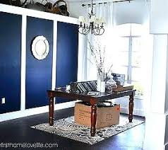 Blue Accent Wall Going Bold Navy Dining Room Home Decor Painting