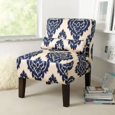 terrific blue and white accent chair bonners furniture in