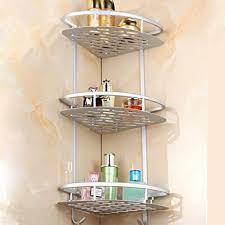 home neat kein bohrendes badezimmer regal aluminium