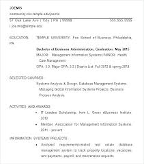 Temple Resume Template Best Examples Free Career Center For Professional