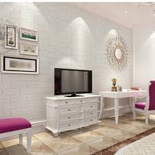 2018 NEW White 3D Modern Design Brick Wallpaper Roll Vinyl Wall Covering Paper Living Room Dinning Store Background In Stickers From Home