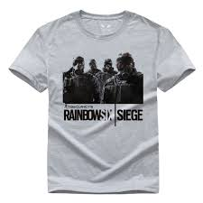 siege design rainbow six siege t shirt tom clancy print original design fashion