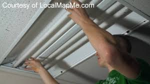 how to install or change fluorescent bulbs in recessed office