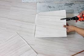 installing peel and stick tiles for basement flooring