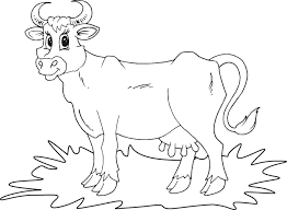 Coloring Page Cow Animals 49