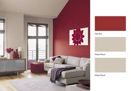 Give Your Living Room A Revamp With This Beige And Red Combination Dulux Paint
