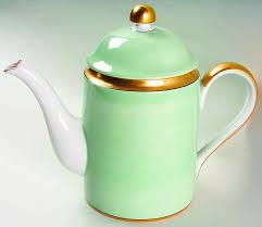 Renaissance Mint Green Coffee Pot Lid By Fitz Floyd