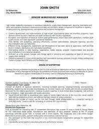 Warehouse Lead Resume Supervisor Sample Ideas Summary