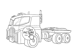 Semi Truck Coloring Pages With And Trailer Best New | Free Coloring ...