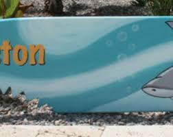 Decorative Surfboard With Shark Bite by Shark Bite Surfboard Etsy