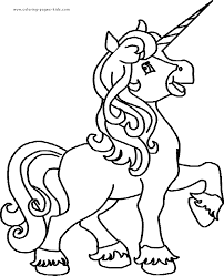Pink Fluffy Unicorn Coloring Pages 3 By Tamara