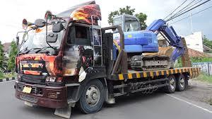 100 Nissan Diesel Truck Hellboy UD Self Loader CW48L GE13 Transporting
