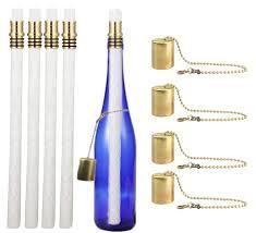 wine bottle tiki torch kit oil holders l kerosene ceramic wick