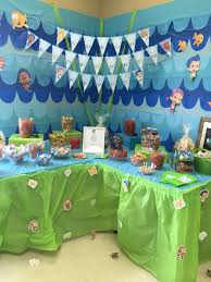 Bubble Guppies Bathroom Decor by Candy Table Bubble Guppies First Birthday Party First Birthday