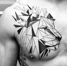 Find This Pin And More On Ev Icin Fikirler 70 Lion Chest Tattoo