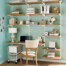 Space Saving Combine A Shelving Unit With Desk