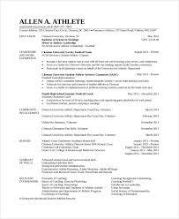 15 Doc College Athlete Resume Examples