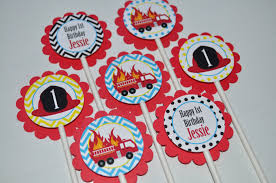Fire Truck Birthday Cupcake Toppers – Firefighter Birthday ... Fire Engine Cupcake Toppers Fire Truck Cupcake Set Of 12 In 2018 Products Pinterest Emma Rameys Firetruck 3rd Birthday Party Lamberts Lately Fireman Firehouse Etsy Monster Cake Ideas Edible With Free Printables How To Nest For Less Refighter Boy Truck Topper Image Rebecca Cakes Bakes Pin By Diana Olivas On Diana Cupcakes Fondant Red Yellow Rad Hostess The Mommyapolis