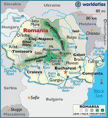 Romania Large Color Map