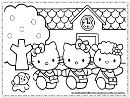Printable Coloring Pages For Kids Hello Kitty Cute