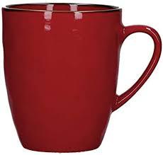 e tulipani concerto rosso fuoco vintage becher im landhausstil 430ml rot tasse kaffeebecher kaffeetasse italienisch steinzeug