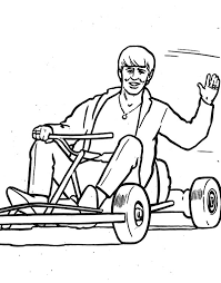The Beatles George Gokarting Coloring Pages