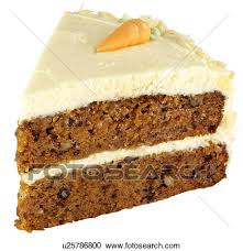 Stock graphy Slice Carrot Cake White Fotosearch Search Stock s