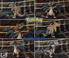 New Paper Craft Pokemon Mega Charizard X Ver3 Free Papercraft Download At PaperCraftSquare