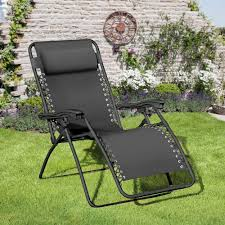 Trans-Continental Group Royale Black Metal Outdoor Lounge ...