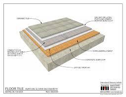 06 130 0204 floor tile cbu cork on concrete