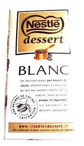 chocolat blanc nestlé dessert 180 gr vente en ligne