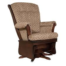 Sleigh Back Swivel Glider Rocker - Amish Oak Furniture & Mattress Store
