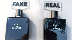 vs real blue de chanel perfume black