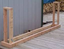 diy firewood rack homefront outbuildings and house exterior